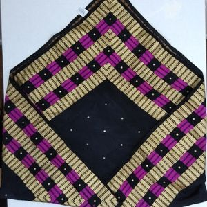 "Women's vintage Ecko silk square 31""x31"" scarf"